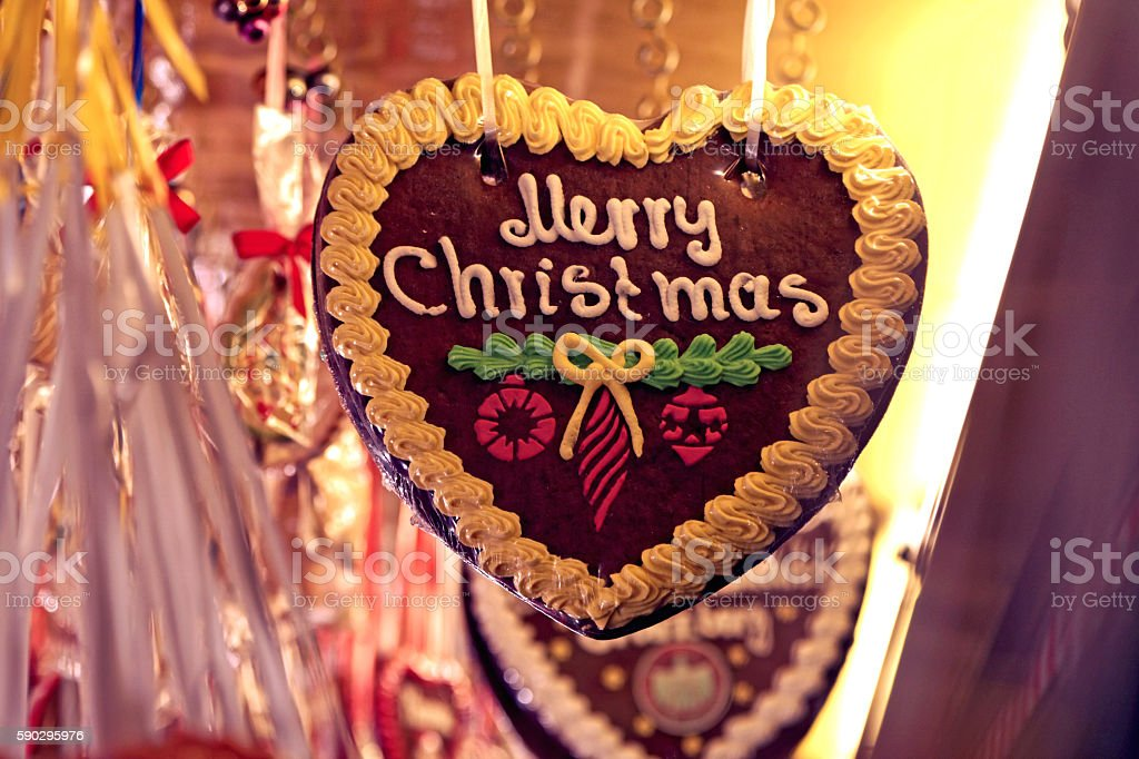 gingerbread heart - Lebkuchenherz royaltyfri bildbanksbilder
