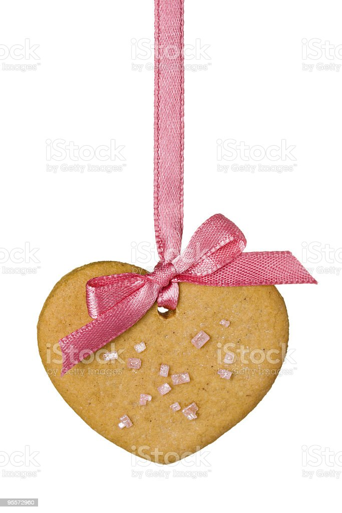 Gingerbread heart royalty-free stock photo