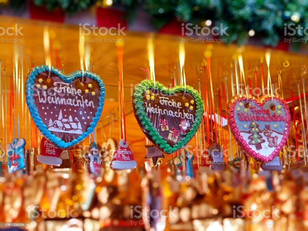 gingerbread hearts - Lebkuchenherz stock photo