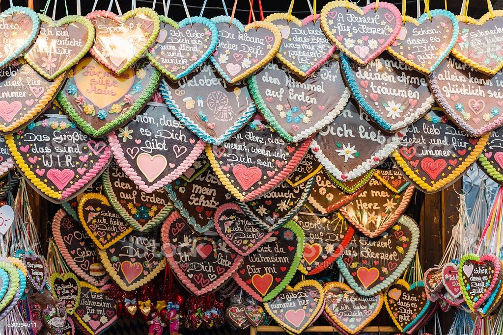 Gingerbread Hearts Oktoberfest stock photo