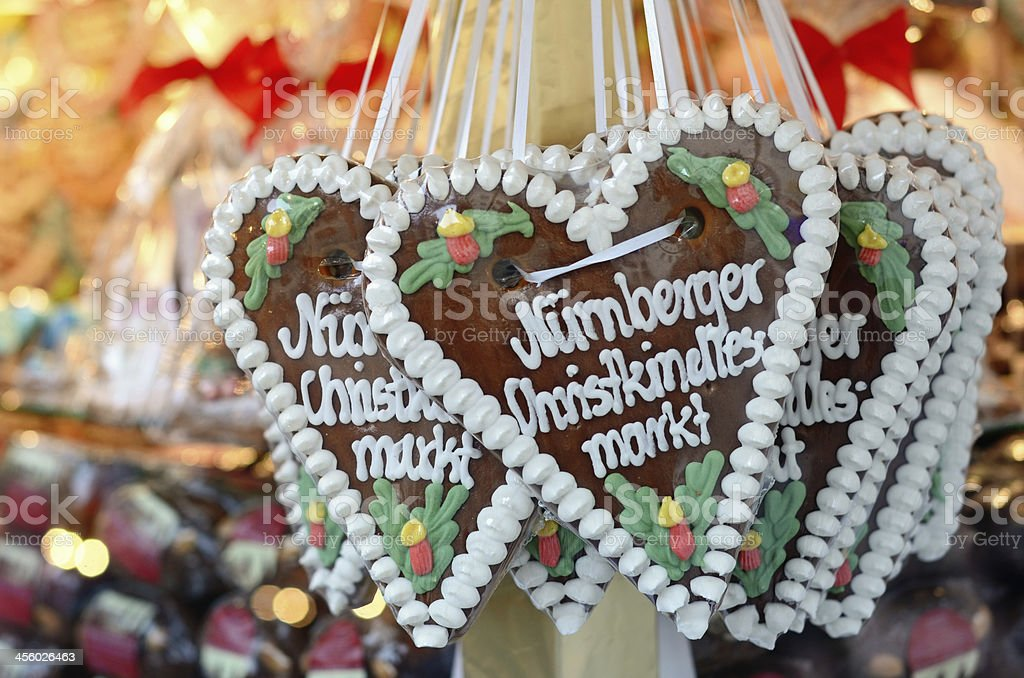 Gingerbread hearts with candies royalty-free stock photo