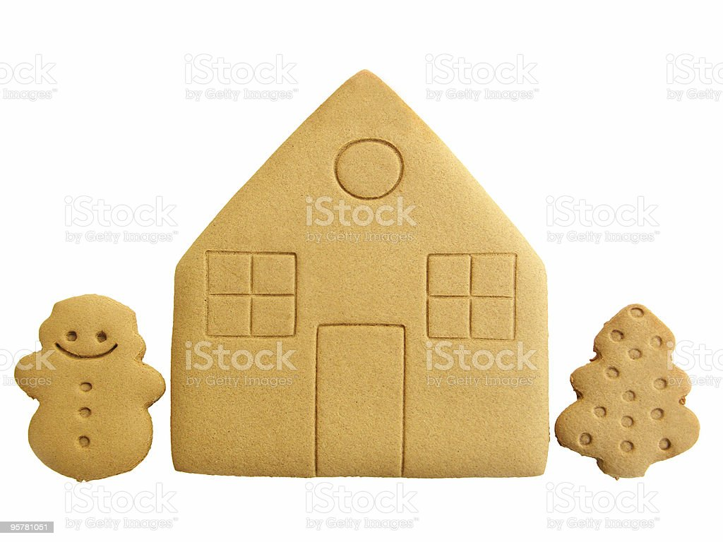 Gingerbread House Cookies royalty-free stock photo