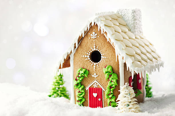 gingerbread house - ruth stok fotoğraflar ve resimler
