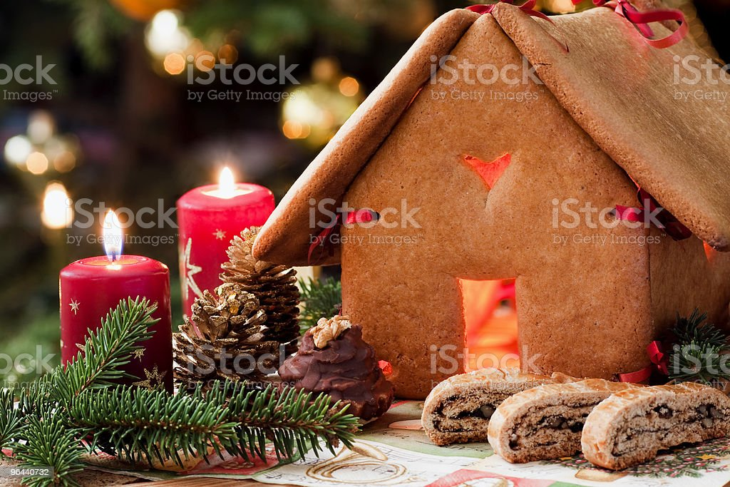 Gingerbread house - Royalty-free Achtergrond - Thema Stockfoto