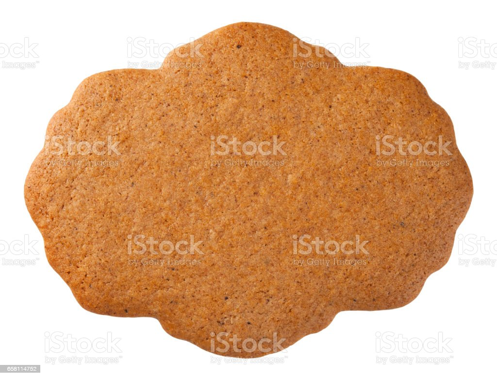 Gingerbread Label Cookie stock photo