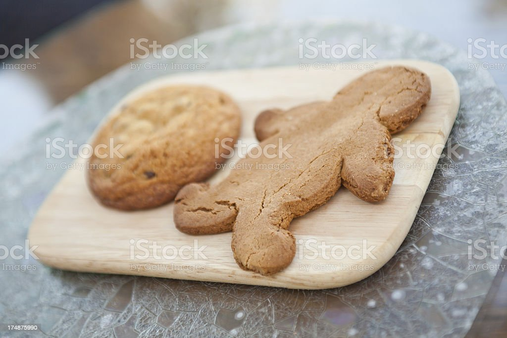 Gingerbread Man and Snickerdoodle Cookie royalty-free stock photo