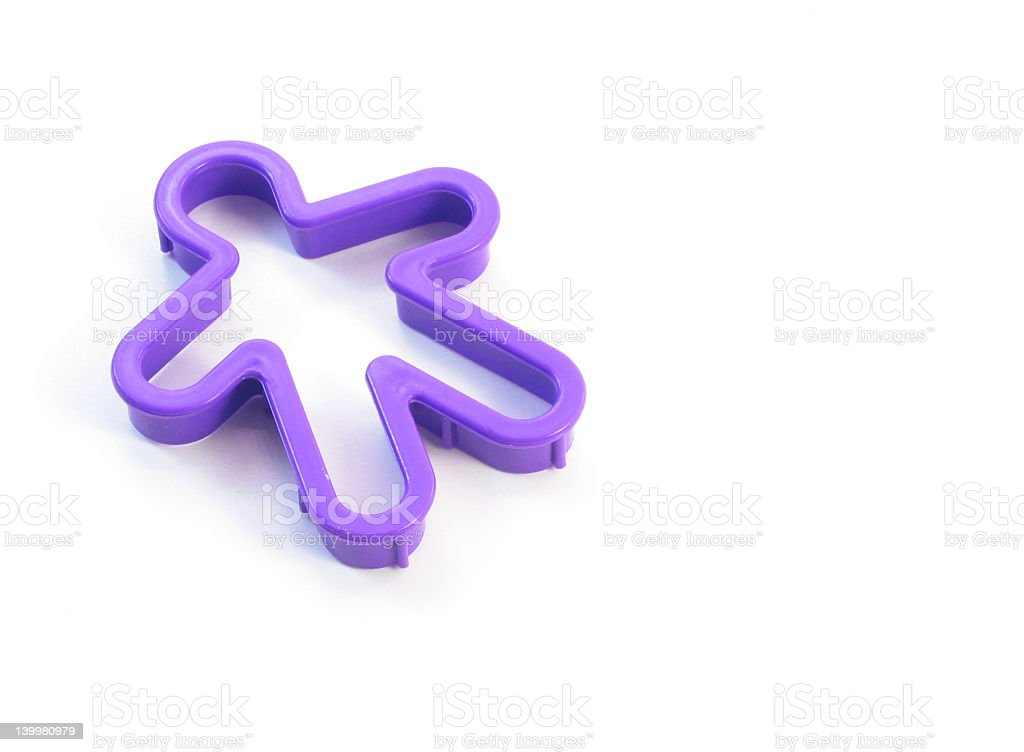 Gingerbread Man Cookie Cutter stock photo
