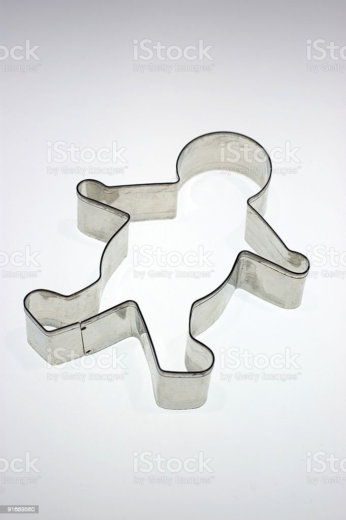 gingerbread man cutter. royalty-free stock photo