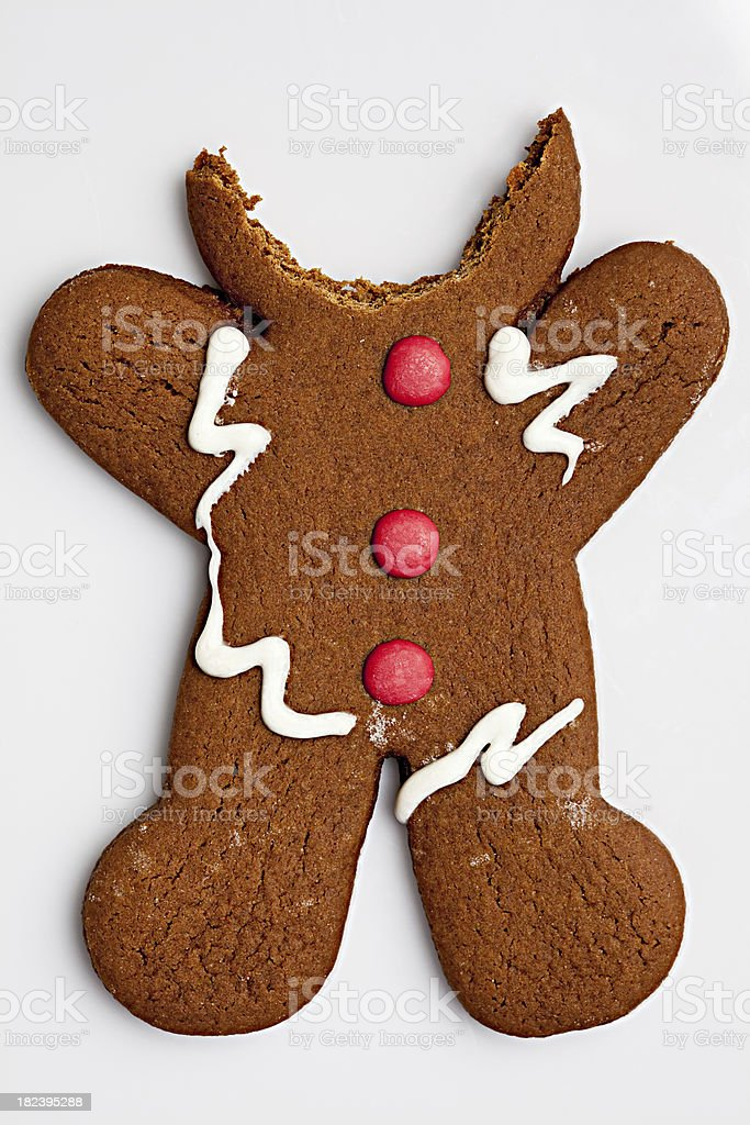 Gingerbread Man Minus Head royalty-free stock photo