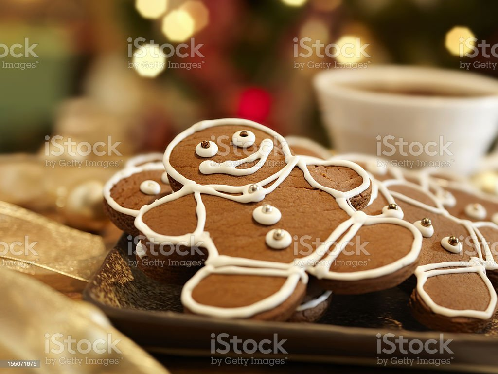 Gingerbread Men Cookies royalty-free stock photo