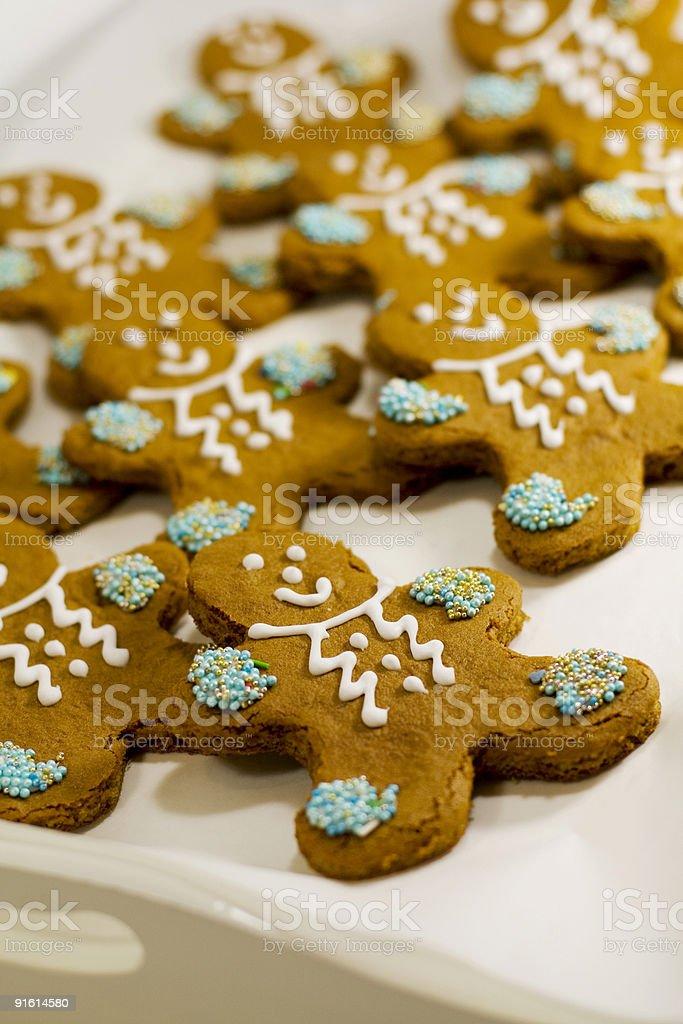 gingerbread men cookies royalty-free stock photo