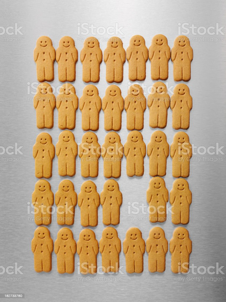 Gingerbread Men royalty-free stock photo