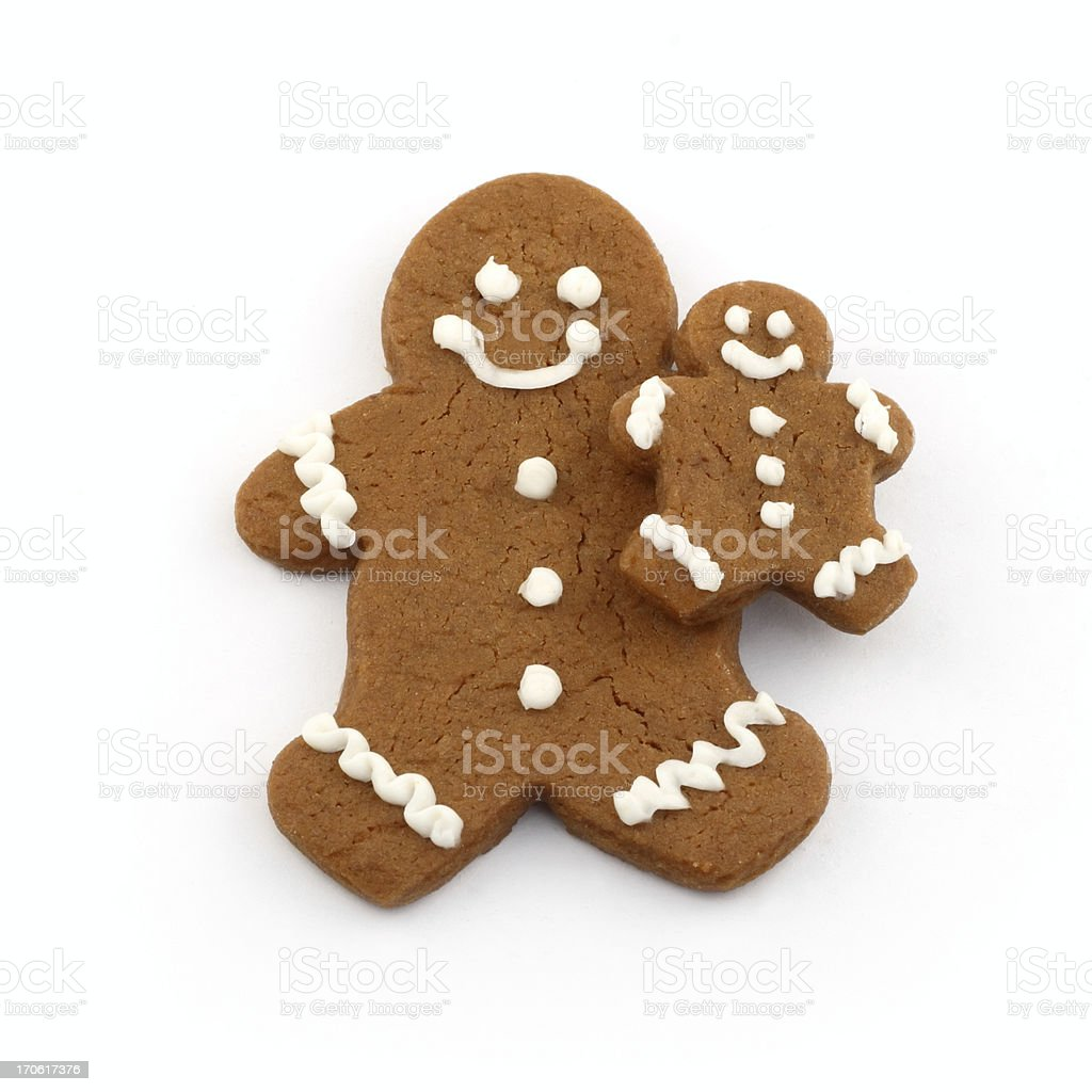 Gingerbread Parent and Child royalty-free stock photo