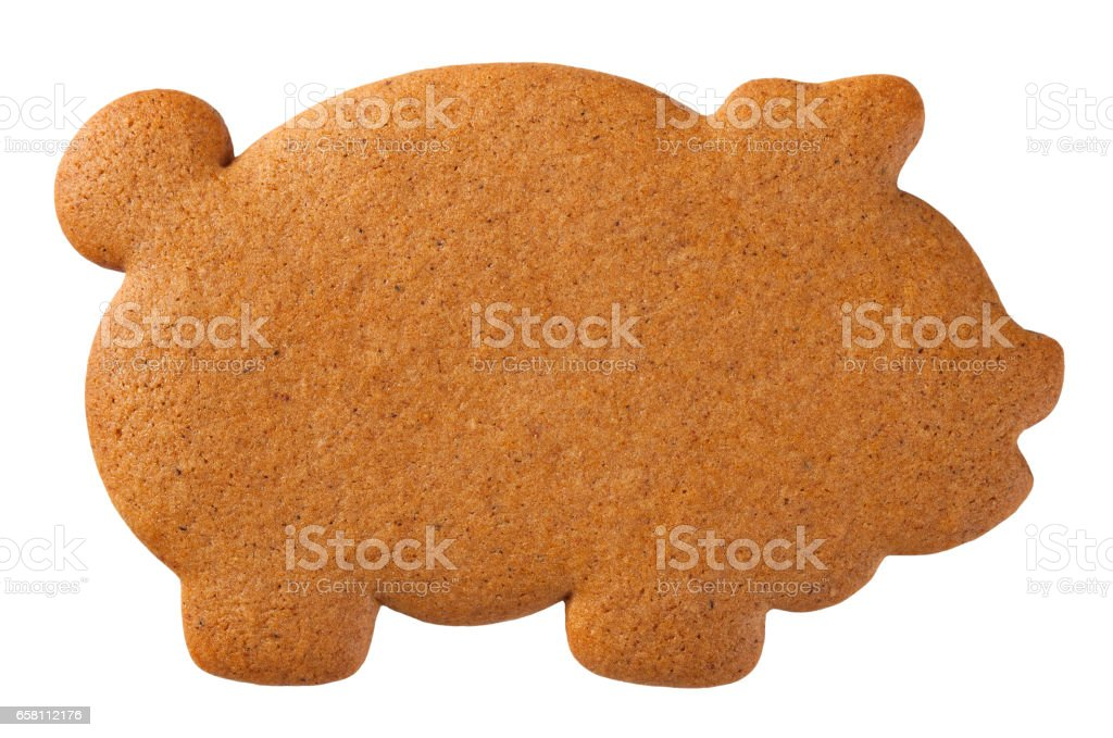 Gingerbread Pig Cookie royalty-free stock photo