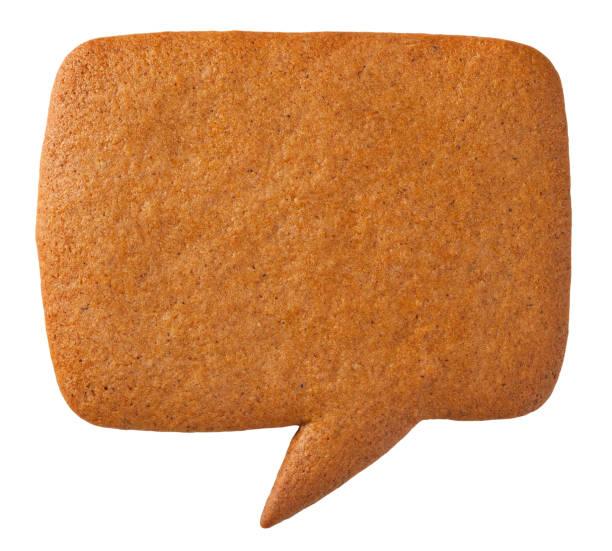 peperkoek toespraak bubble cookie - speculaas stockfoto's en -beelden