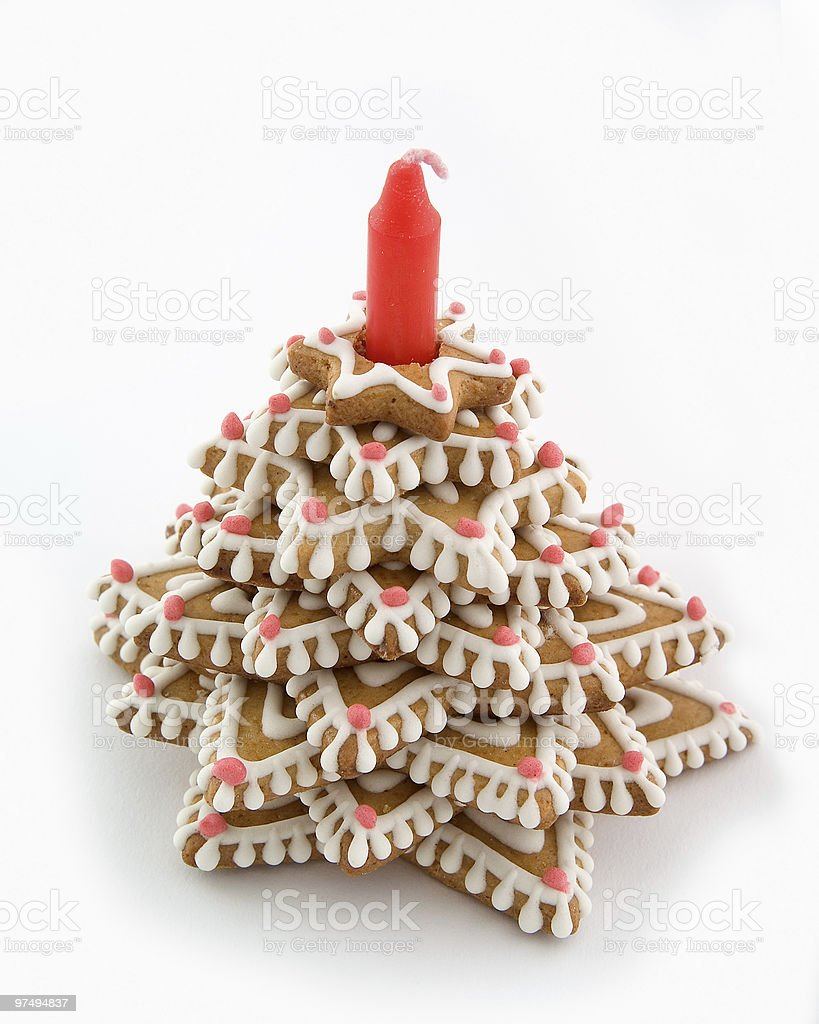 Gingerbread tree. royalty-free stock photo