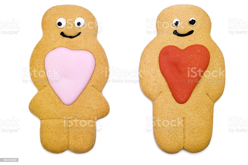 Gingerbread Valentinstag Lizenzfreies stock-foto