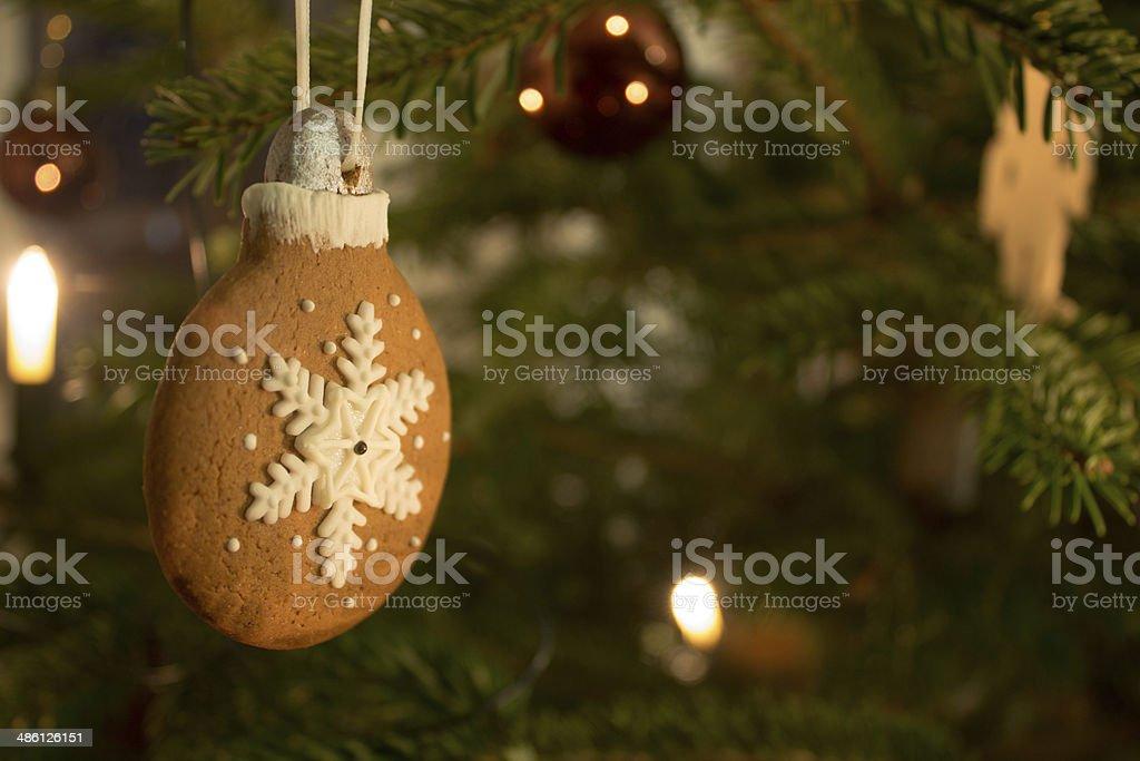 Gingerbread-Pendant stock photo