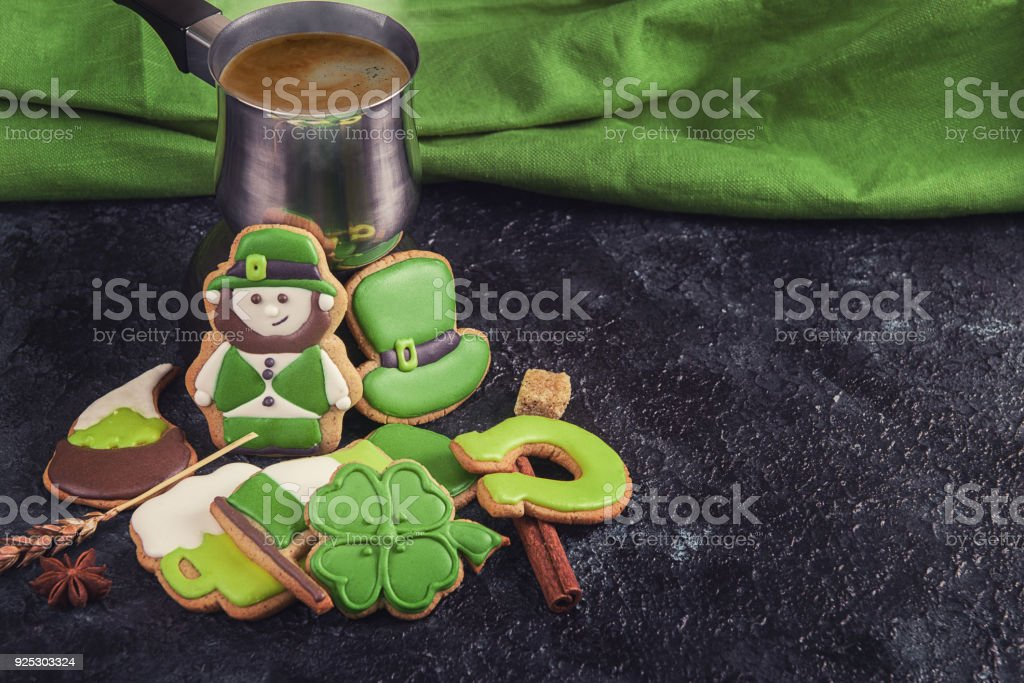 Gingerbreads for Patrick's day stock photo