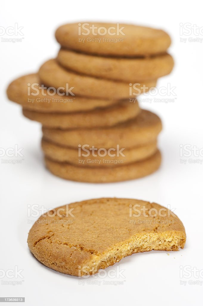 Gingernut Biscuits stock photo