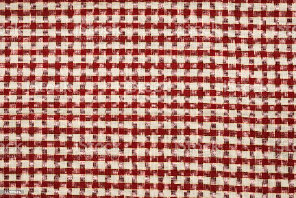 Gingham Tablecloth stock photo