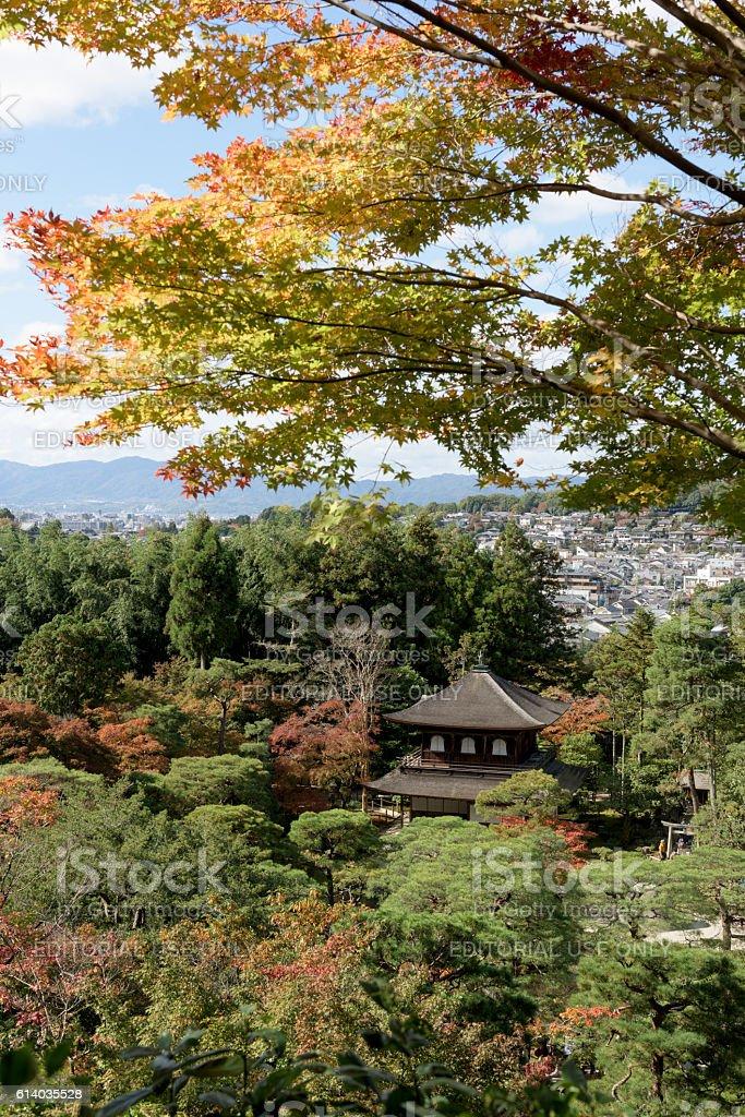 Ginkakuji Temple and Garden Kyoto, Japan. stock photo