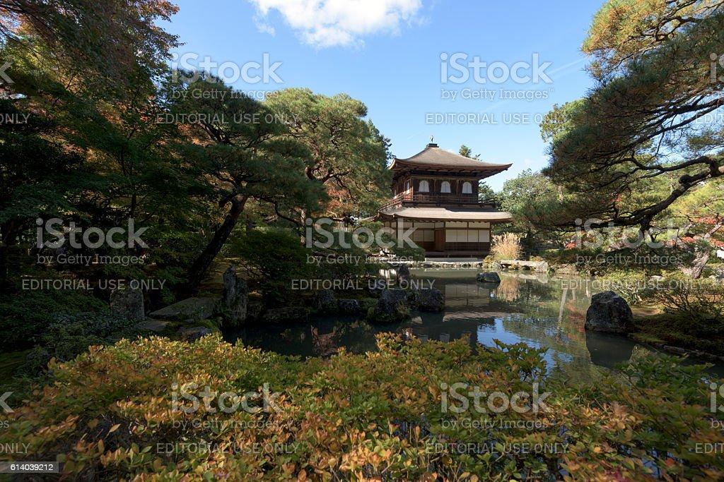 Ginkakuji Temple and Zen Garden, Kyoto, Japan. stock photo