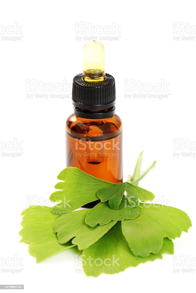 ginko essential oil royalty-free stock photo