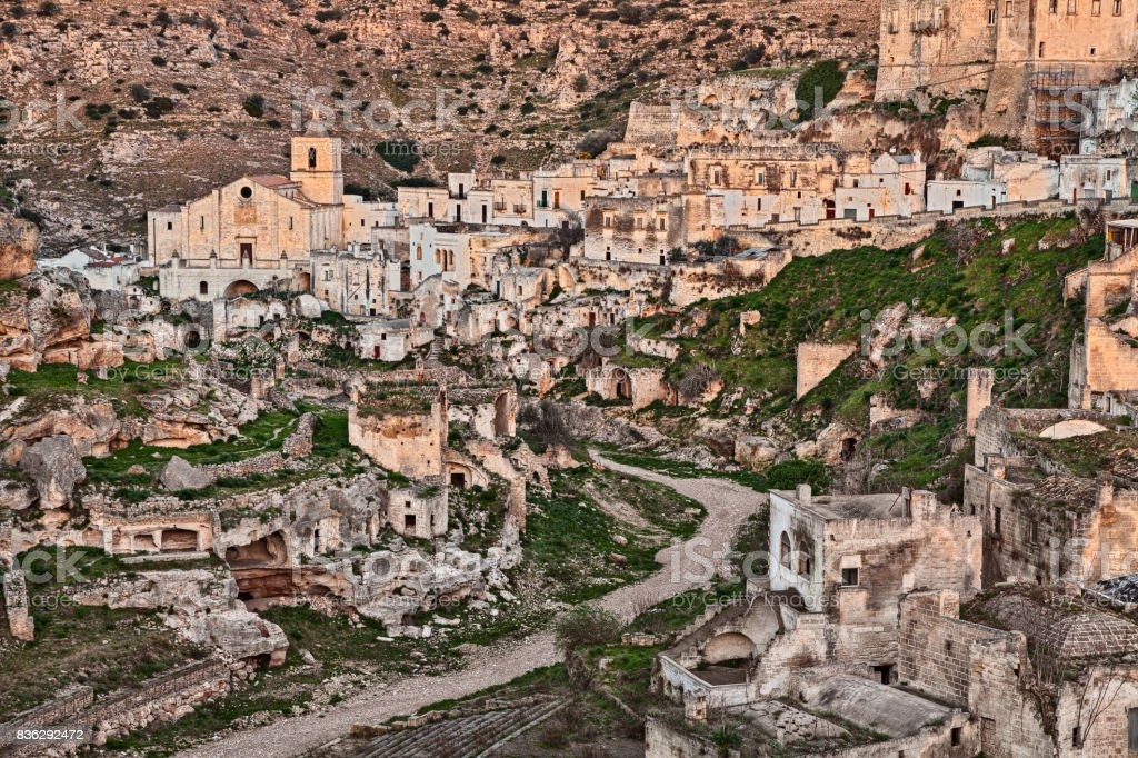 Ginosa, Taranto, Puglia, Italy: landscape of the old town stock photo