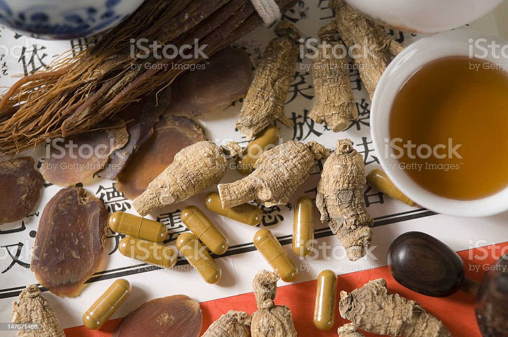 Ginseng Roots royalty-free stock photo