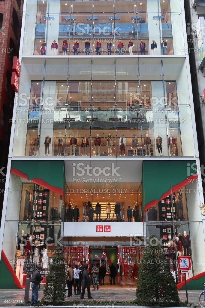 ginza shopping uniqlo royalty free stock photo
