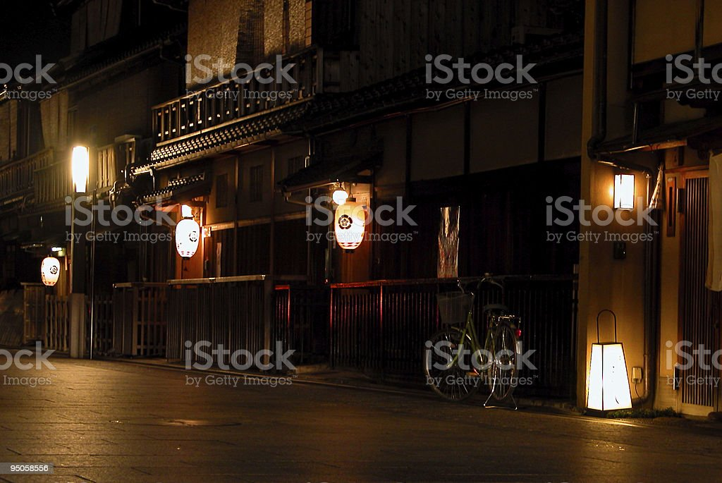 Gion by night stock photo