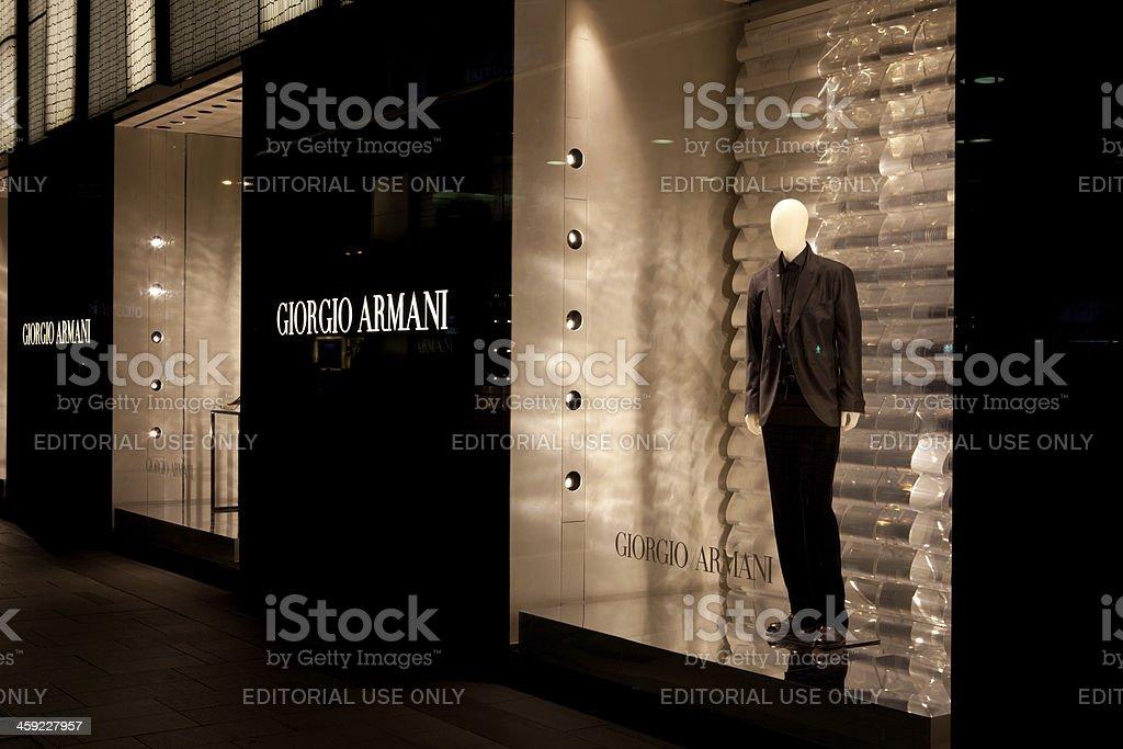 Giorgio Armani Flagship Store royalty-free stock photo