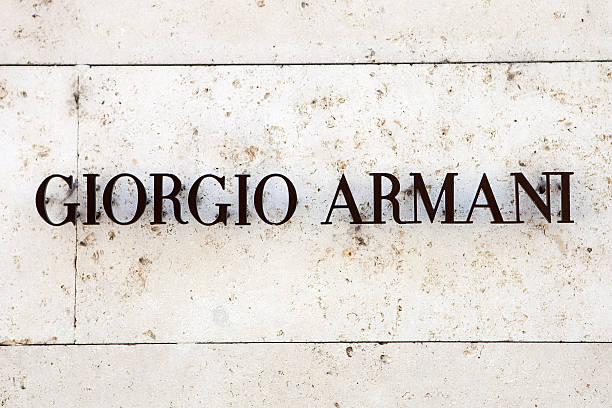 Giorgio Armani store stock photo