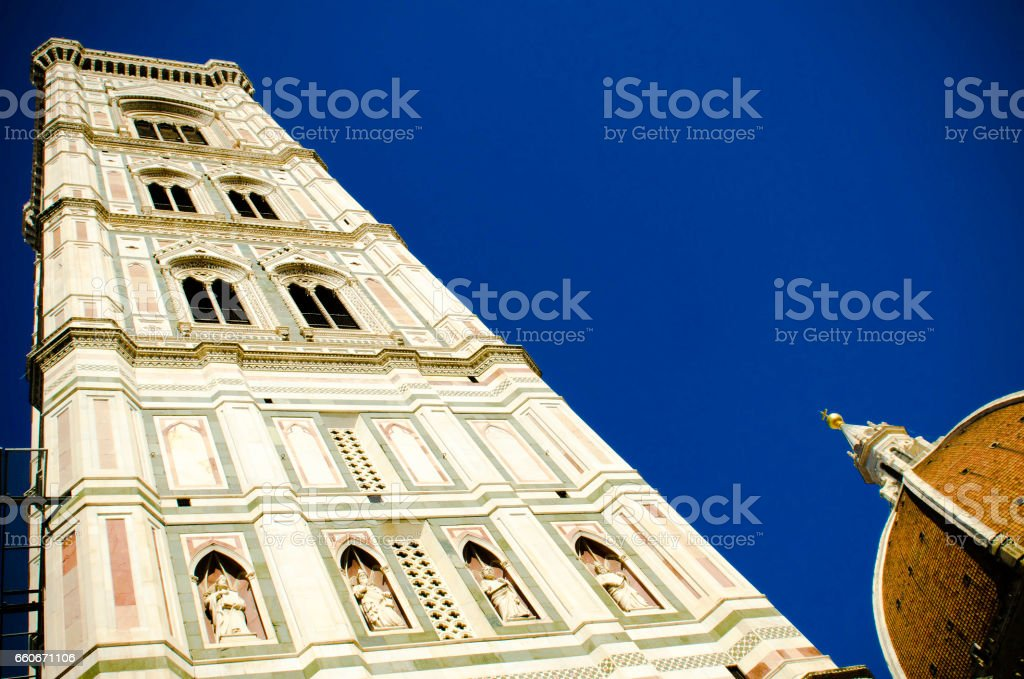 Giotto's bell tower in Florence stock photo