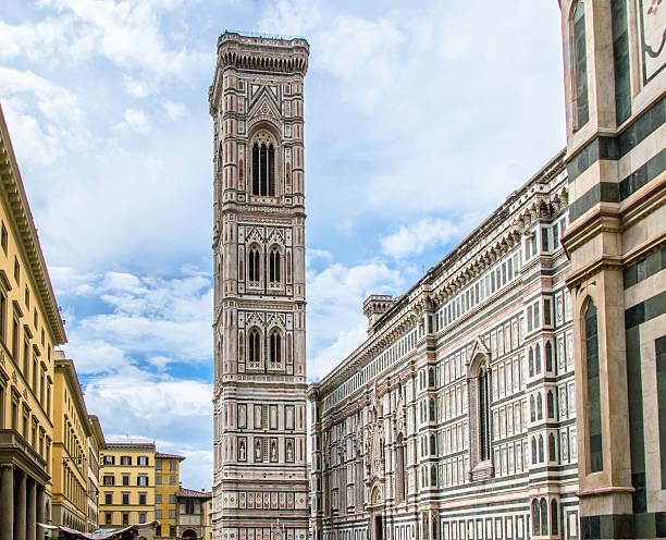 giotto's campanile. basilica of santa maria del fiore. florence, italy. - giotto stock-fotos und bilder
