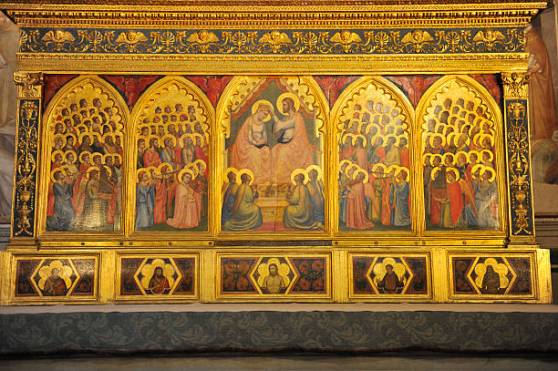 giotto gemälde im baroncelli chapel-florence - giotto stock-fotos und bilder