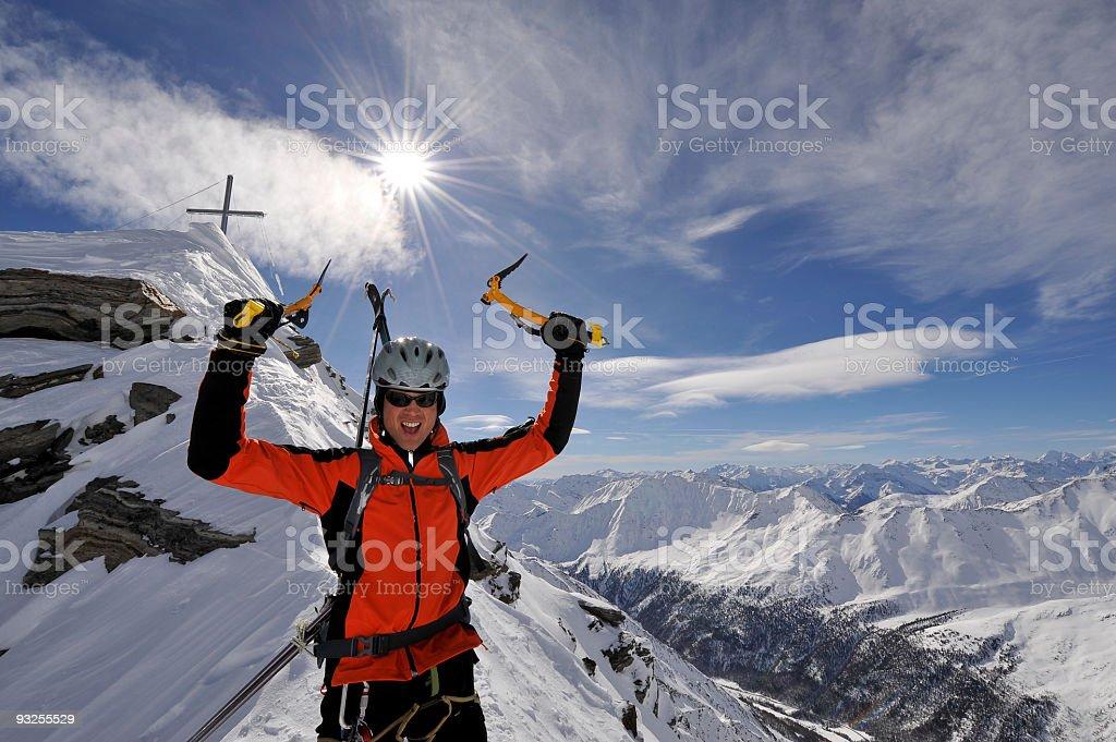 Gipfel erfolgreicher Bestiegen royalty-free stock photo