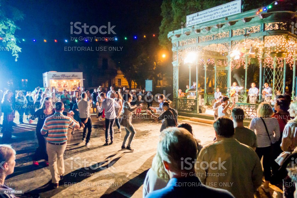 gipsy gypsy music concert dance hungary Székesfehérvár stock photo