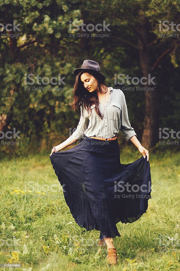 gipsy summer fashion stock photo