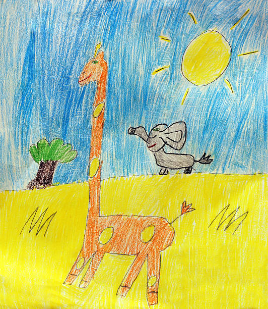 Giraffe and elephant childrens drawing picture id525434973?b=1&k=6&m=525434973&s=612x612&w=0&h=uog0e ikbvcimffcocj7wkgfrkvhrp hmvvhhfm0rf4=