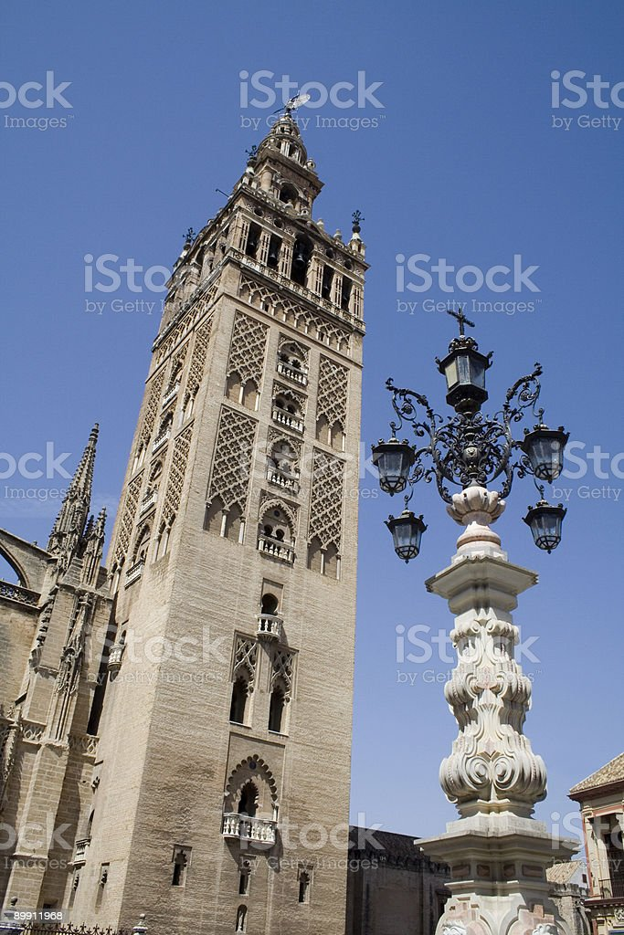 Giralda bell tower ,Cathedral of Seville royalty-free stock photo