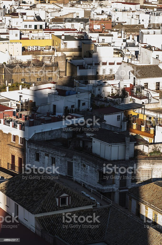 Giralda's shadow (sevilla) stock photo