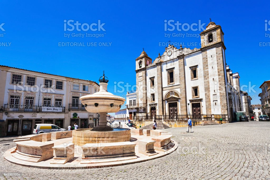 Giraldo Square, Evora stock photo