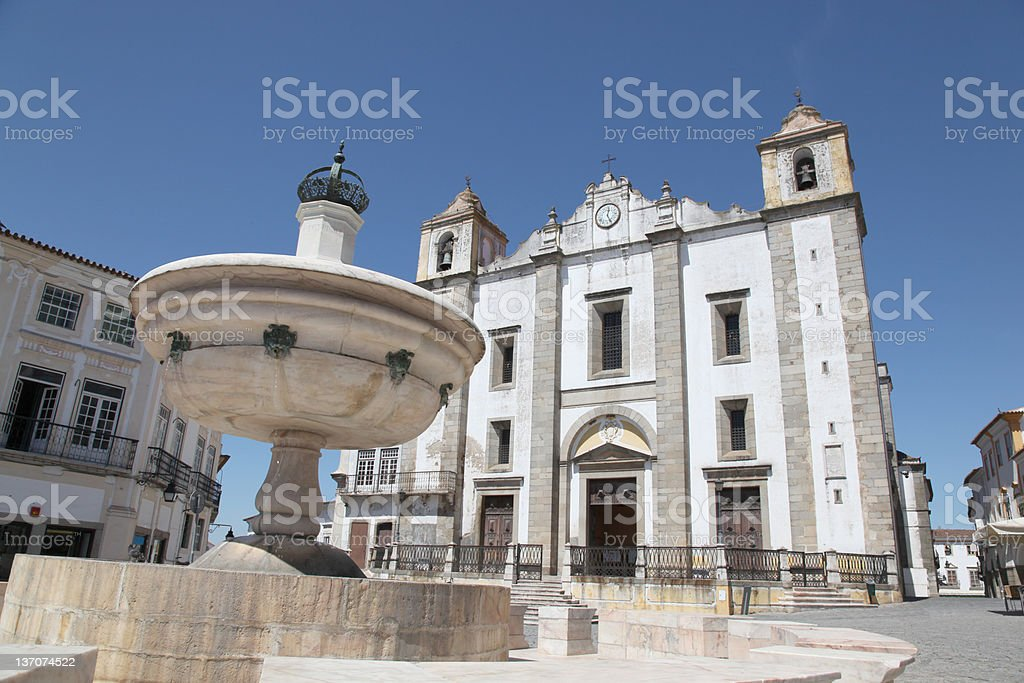 Giraldo Square Evora Portugal stock photo