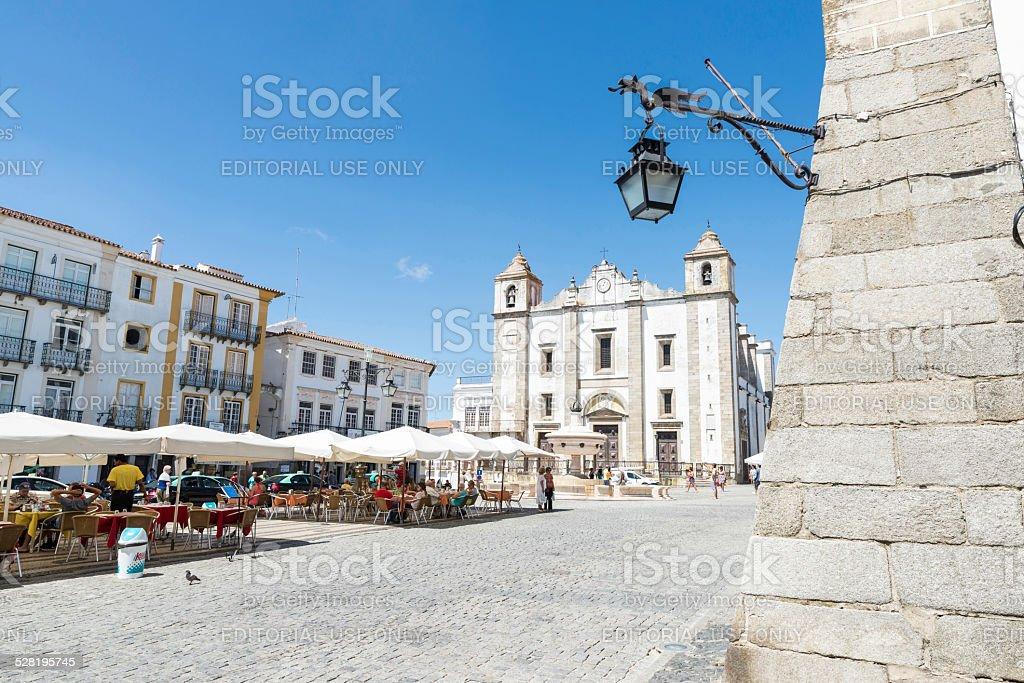 Giraldo Square, Evora, Portugal stock photo