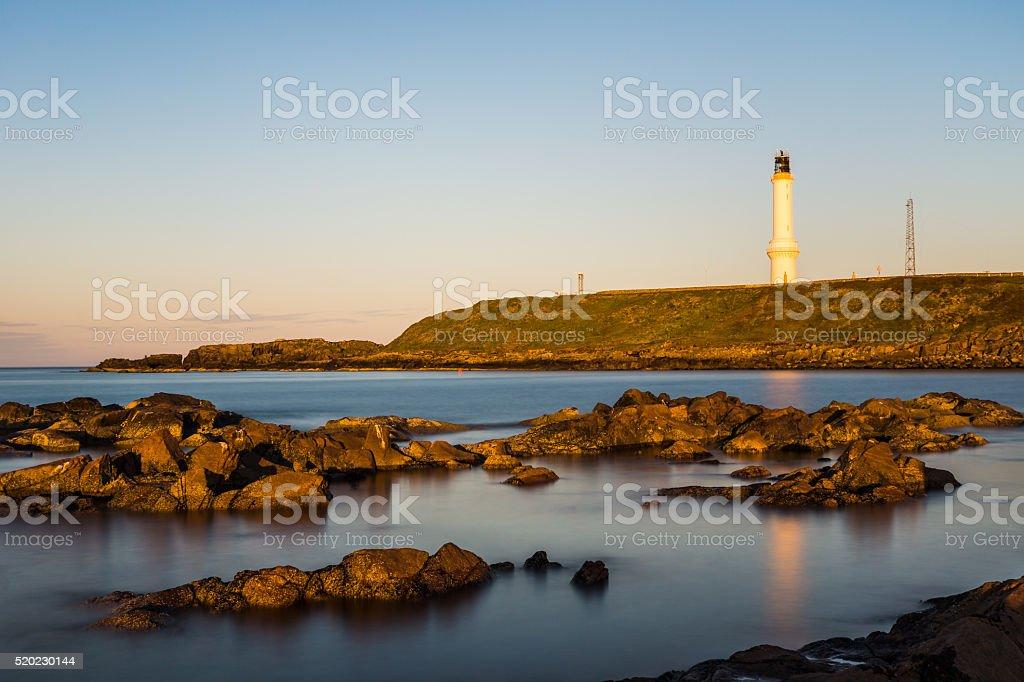 Girdleness Lighthouse stock photo