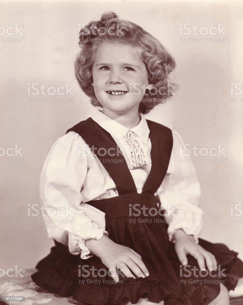 Girl - 4 yr. old retro royalty-free stock photo
