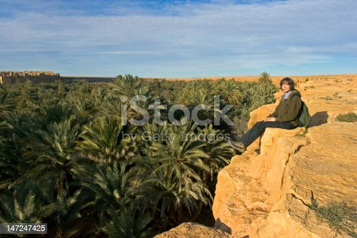 872393896istockphoto Girl above palm trees 147247425