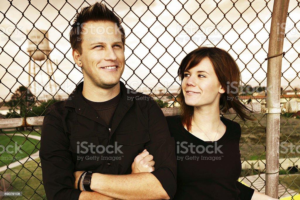 Girl Admiring her Boyfriend royalty-free stock photo